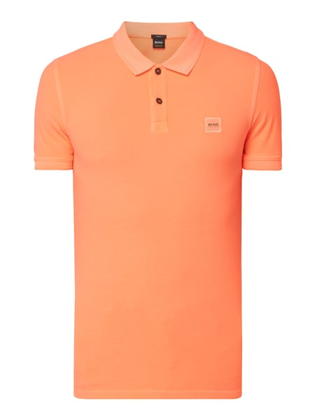 Boss Casual Slim Fit Poloshirt mit Logo-Aufnäher Orange - 1