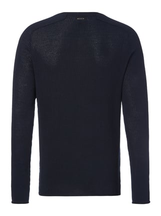 Boss Orange Slim Fit Pullover aus reiner Baumwolle Marineblau - 1