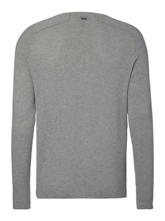 Boss Orange Slim Fit Pullover aus reiner Baumwolle Mittelgrau - 1
