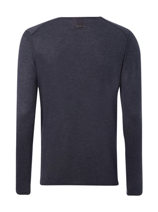 Boss Orange Slim Fit Pullover im Feinstrick Marineblau - 1