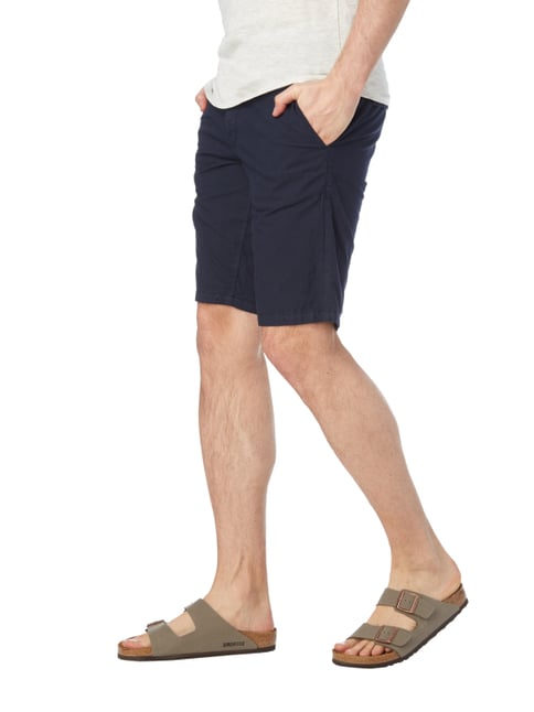 Boss Orange Slim Fit Shorts aus Baumwolle Marineblau - 1