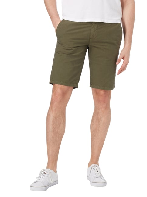 Boss Orange Slim Fit Shorts aus Baumwolle Olivgrün - 1