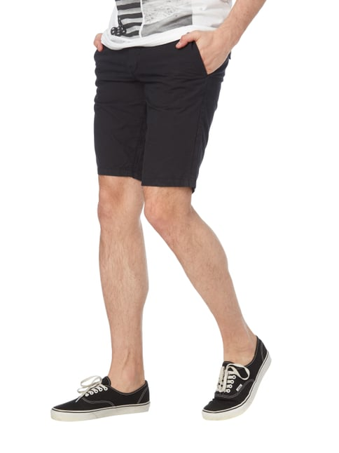 Boss Orange Slim Fit Shorts aus Baumwolle Schwarz - 1