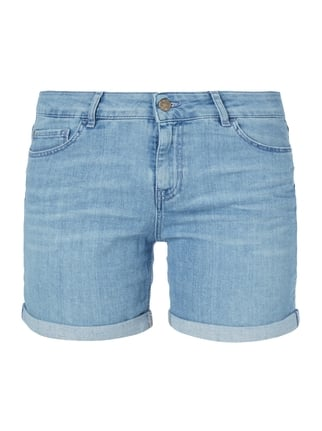 Stone Washed Girlfriend Jeansshorts Blau / Türkis - 1