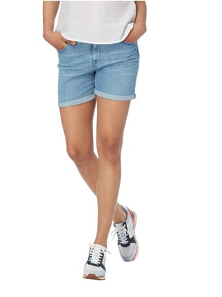 Boss Orange Stone Washed Girlfriend Jeansshorts Hellblau - 1