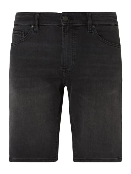 Boss Casual Stone Washed Regular Fit Jeansshorts Grau / Schwarz - 1