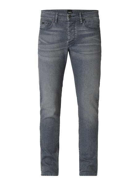 Boss Casual Stone Washed Slim Fit 5-Pocket-Jeans Grau / Schwarz - 1
