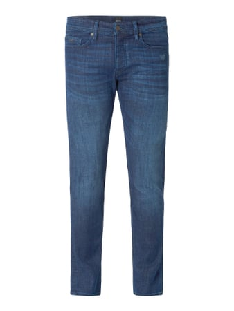 BOSS Casualwear Stone Washed Tapered Fit Jeans Modell 'Taber' Blau - 1
