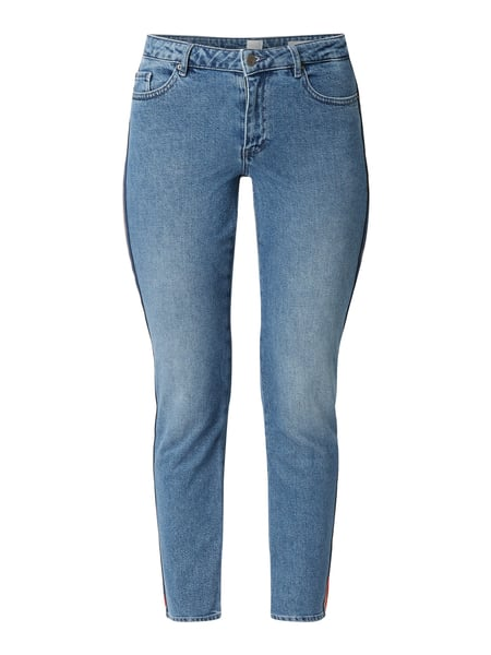 Boss Casual Straight Fit Jeans mit Galonstreifen Blau - 1