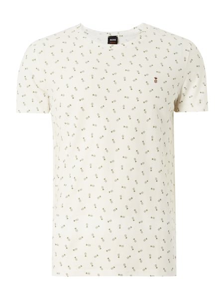 2af5ea746f3124 BOSS-CASUAL T-Shirt mit Ananasmuster in Weiß online kaufen (9754385 ...