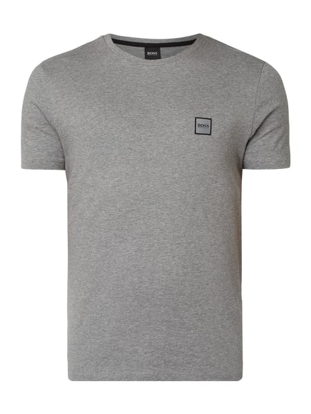 Boss Casual T-Shirt mit Logo-Applikation Grau - 1