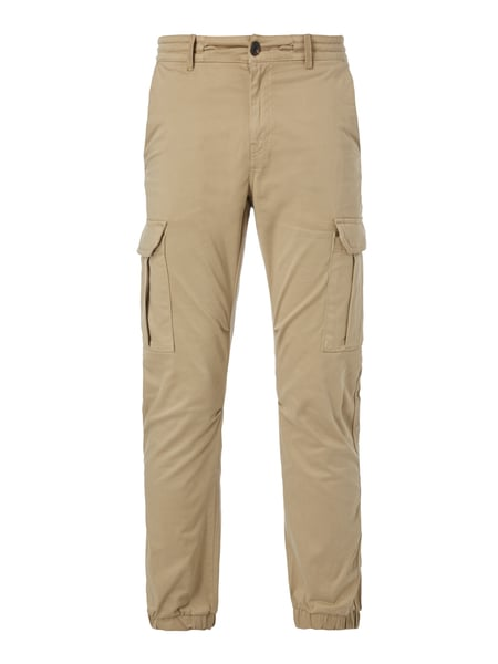 BOSS-CASUAL Tapered Fit Cargohose mit Tunnelzug am Bund in Weiß ... 6dbaad4677