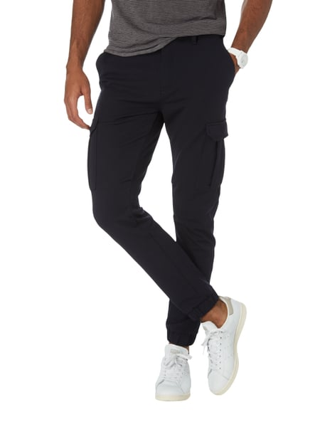 BOSS-CASUAL Tapered Fit Cargohose mit Tunnelzug in Blau   Türkis ... ae1628e28c