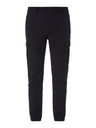 Tapered Fit Cargohose mit Tunnelzug Blau / Türkis - 1