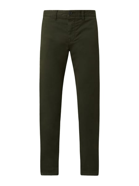 BOSS Casualwear Tapered Fit Chino aus Baumwoll-Elasthan-Mix Modell 'Taber' Grün - 1