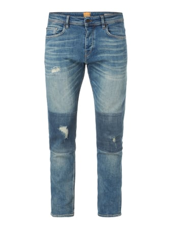 Tapered Fit Destroyed Jeans Blau / Türkis - 1