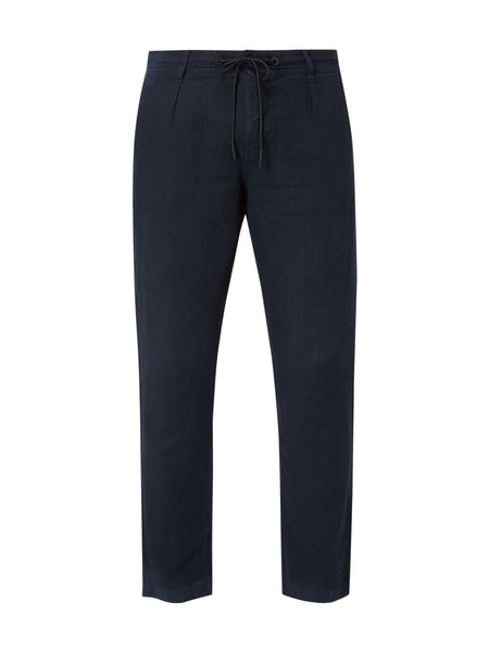 Boss Casual Tapered Fit Leinenhose mit Tunnelzug Blau - 1