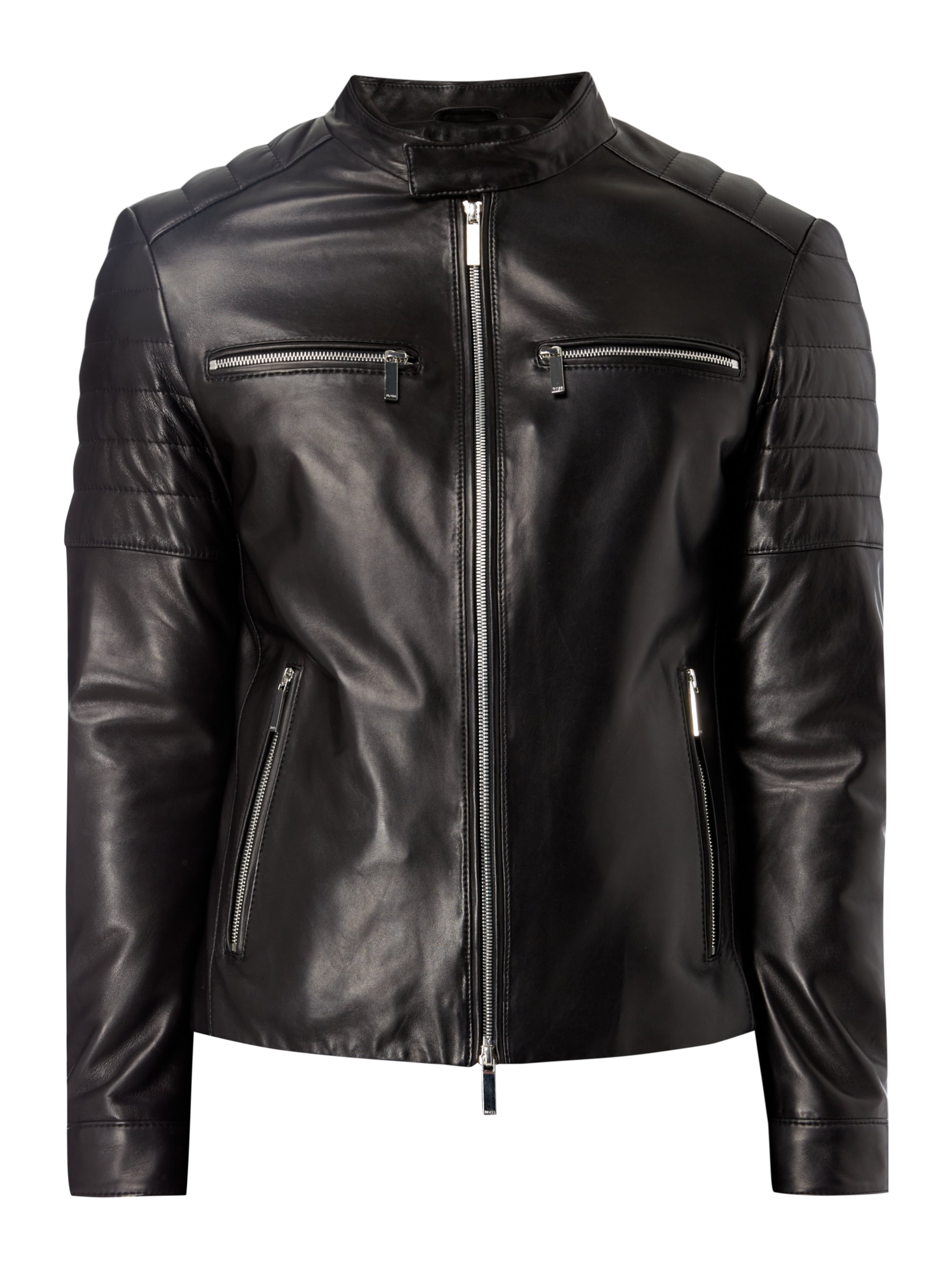 lederjacke im biker look fashion id online shop. Black Bedroom Furniture Sets. Home Design Ideas