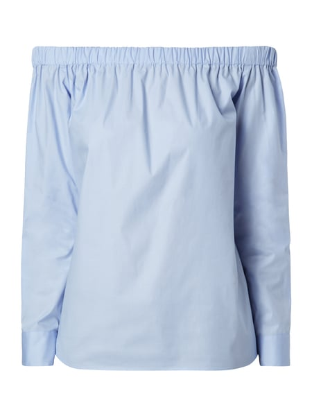 Off Shoulder Blusenshirt Blau / Türkis - 1