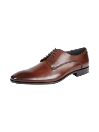 Oxfords aus Leder Braun - 1