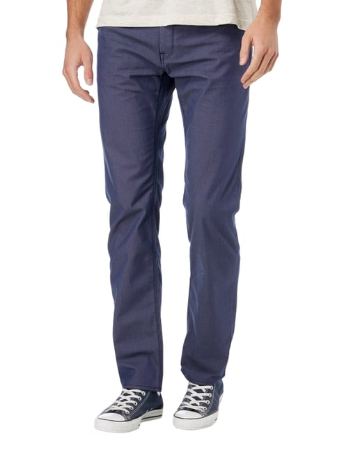 Boss Regular Fit 5-Pocket-Hose mit Webmuster Blau - 1