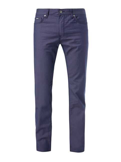 Regular Fit 5-Pocket-Hose mit Webmuster Blau / Türkis - 1