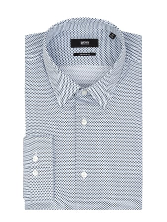 BOSS Regular Fit Business-Hemd aus Baumwolle Blau - 1