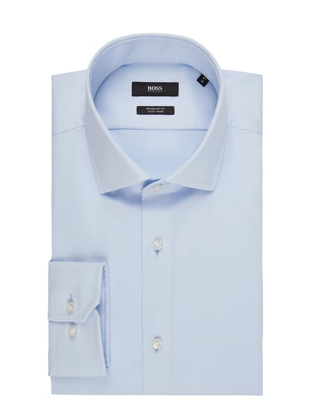 BOSS Regular Fit Business-Hemd aus Twill Blau - 1