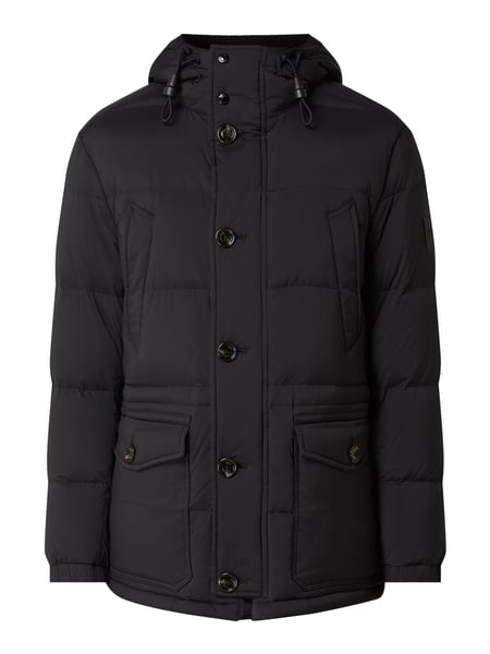 BOSS Regular Fit Daunenjacke mit Kapuze Schwarz - 1