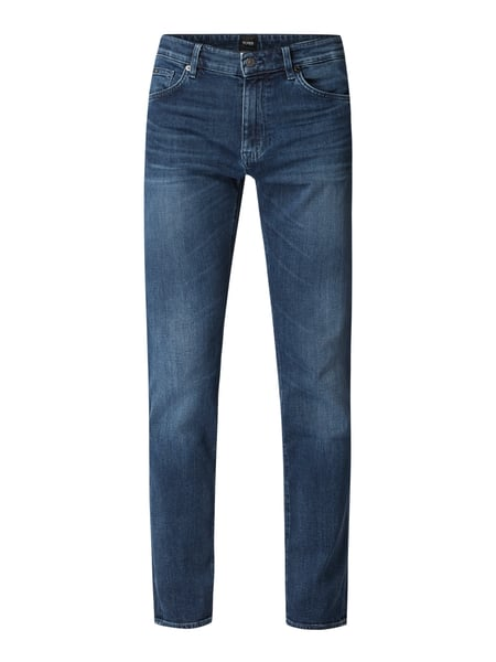 Boss Regular Fit Jeans mit Stretch-Anteil Blau - 1
