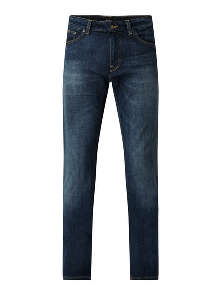 BOSS Regular Fit Jeans mit Stretch-Anteil Modell 'Maine' Blau - 1