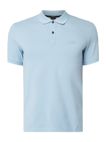 Boss Regular Fit Poloshirt mit Logo-Stickerei Blau / Türkis - 1