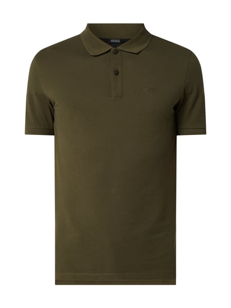 BOSS Regular Fit Poloshirt mit Logo-Stickerei Grün - 1