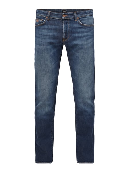 Boss Regular Fit Stone Washed Jeans Blau / Türkis - 1