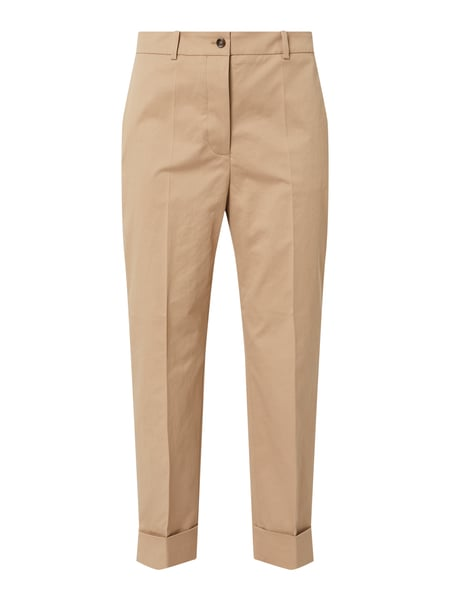 BOSS Relaxed Fit Stoffhose in 7/8-Länge Modell 'Tachino' Beige - 1