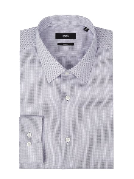 BOSS Slim Fit Business-Hemd aus Baumwolle Lila - 1