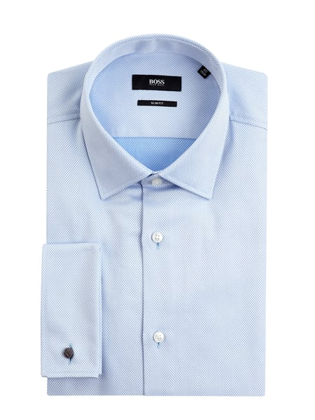 BOSS Slim Fit Business-Hemd aus Baumwolle Modell 'Jacques' Blau - 1