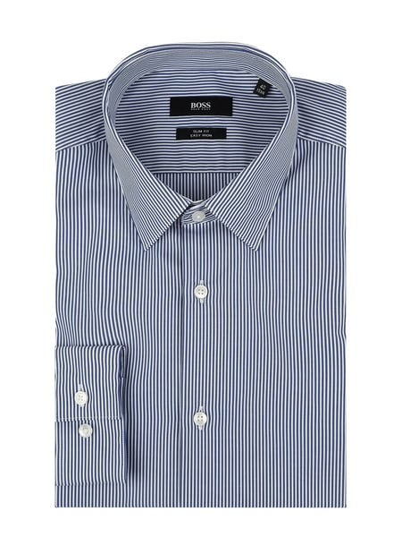 BOSS Slim Fit Business-Hemd aus Baumwolle Blau - 1