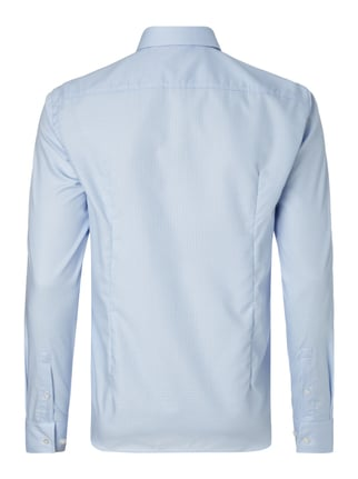 Boss Slim Fit Business-Hemd mit Webmuster Bleu - 1