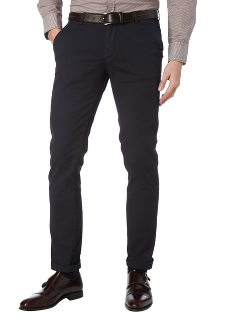 Boss Slim Fit Chino mit Stretch-Anteil Marineblau - 1