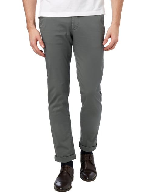 Boss Slim Fit Chino mit Stretch-Anteil Olivgrün - 1