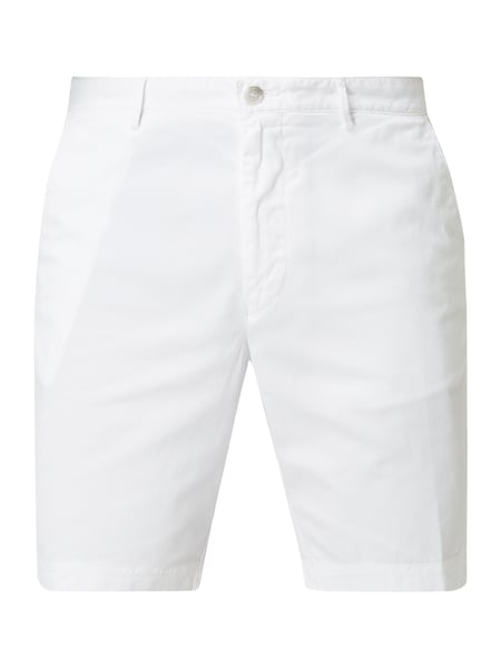 Boss Slim Fit Chinoshorts mit Stretch-Anteil Weiß - 1