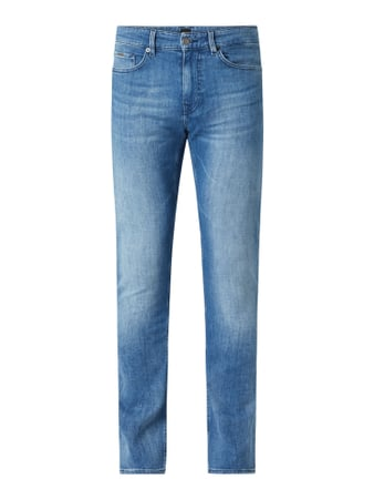 BOSS Slim Fit Jeans mit Stretch-Anteil Modell 'Delaware' Blau - 1