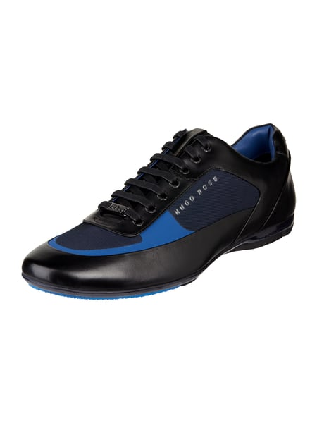 Boss Sneaker 'Racing_Low' aus Leder Marineblau