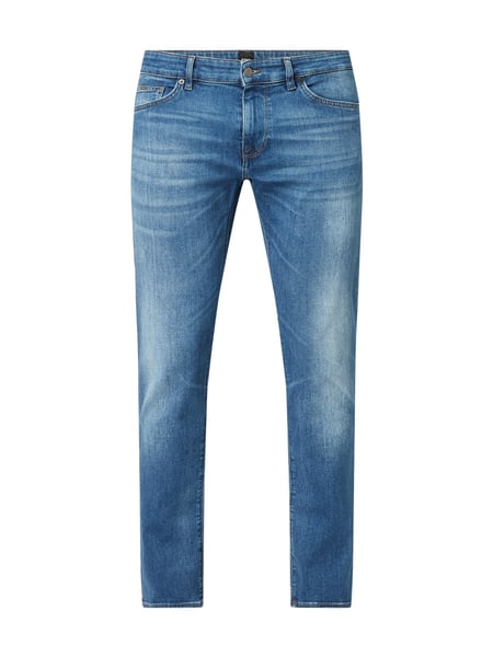 Boss Stone Washed Regular Fit Jeans Blau - 1