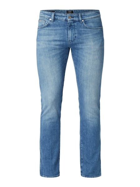 Boss Delaware3-5 - Stone Washed Slim Fit Jeans Bleu