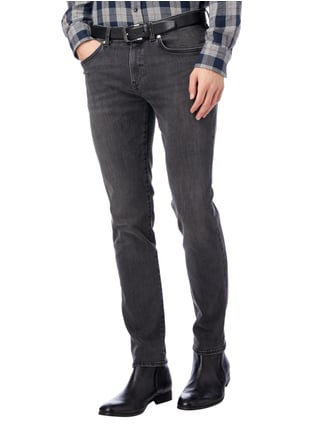 Boss Stone Washed Slim Fit Jeans mit Stretch-Anteil Mittelgrau - 1