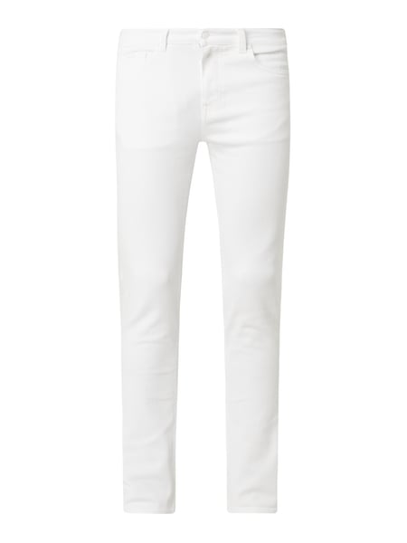 BOSS Straight Fit Jeans mit Stretch-Anteil Modell 'Delaware' Weiß - 1
