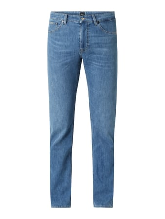 BOSS Straight Fit Jeans mit Stretch-Anteil Modell 'Maine' Blau - 1