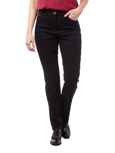 Brax Feminine Fit Jeans aus Coloured Denim Schwarz - 1